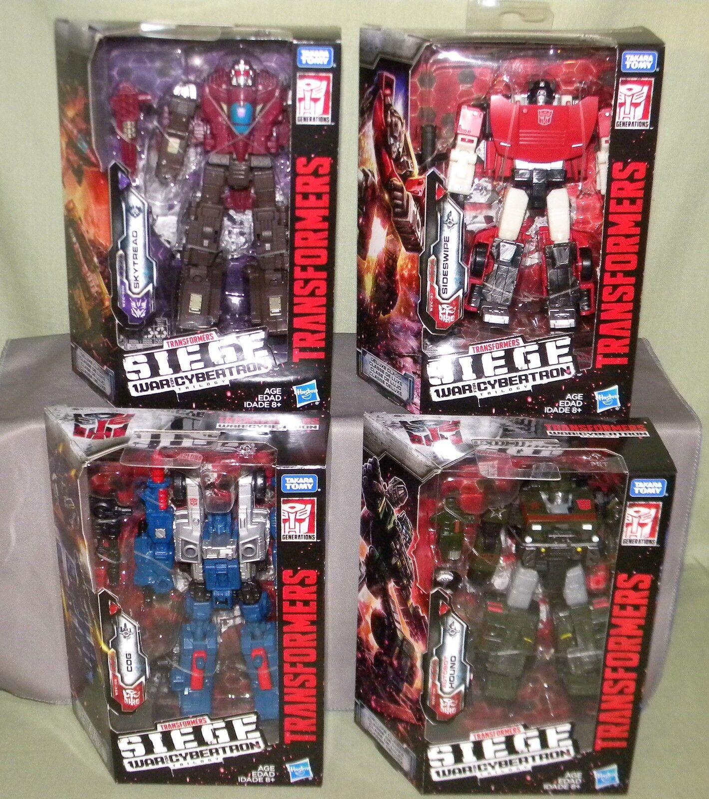 Hound COG Sideswipe skytread Transformers asedio guerra por Cybertron De lujo Clase