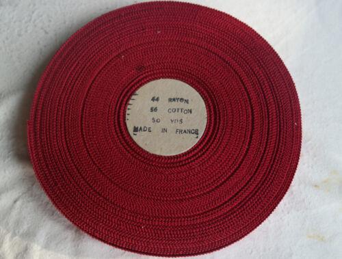 "10 yards 5//8/"" pink red vintage cotton rayon petersham grosgrain ribbon dress"