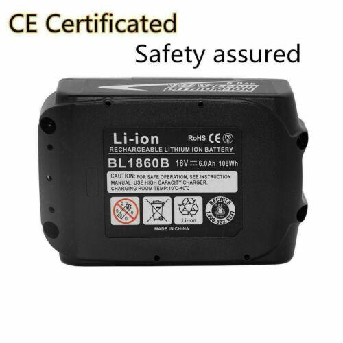 4X 18V 6AH LXT Li-Ion Battery For Makita BL1840 BL1830 BL1850 Cordless Drill LED