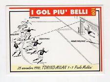 figurina card - CALCIATORI MILAN  MASTER CARDS  - n. 109 TORINO-MILAN 1-1