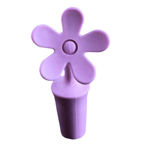 Flower Design Silicone Wine Bottle Stopper Beer Cap Seal Cover Reusable 8C