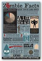 Humor Poster Zombie Facts