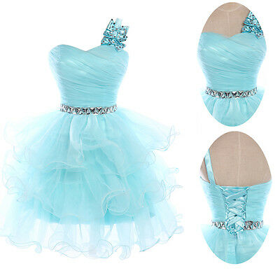 New Arrival Homecoming Short Dresses Beaded Short Cocktail Party Prom Light Blue