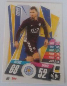 Match Attax 20//21 Set 4 tarjetas Leicester City como en la imagen-como Nuevo