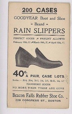 Regen Hausschuhe Boston Massachusetts Beacon Falls Schuhe Werbung Radient 1906 Ux18