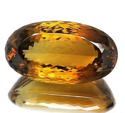 [japan quality] Cognac Citrine 240.26CT Loose Gemstone