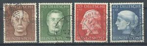 Bund-1954-Mi-200-203-Gestempelt-100-Helfer-der-Menschheit