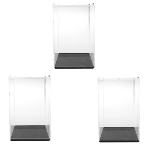 3Pcs Vitrine für Actionfiguren Schutzbox mit Base 10x10x14cm