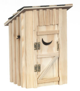 Out House / Outdoor Toilet, Doll House Miniature, Miniature Lavatory Garden