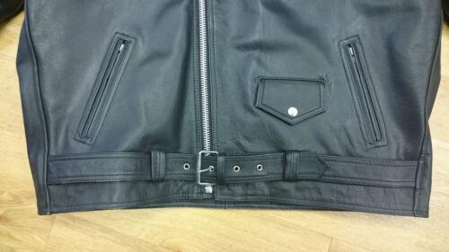 Jacket 52 motard 56 Taille Doublure en cuir matelassée 52 Size Biker Leather Brando 56 Lining Brando Quilted Veste 7paqd7