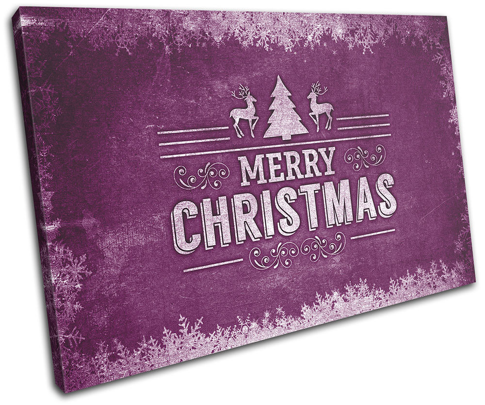 Christmas Decoration Wall Canvas ART Print XMAS Picture Gift Chalk 15 Violet Chr