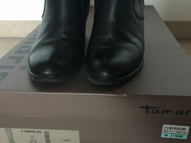 Tamaris 25545 23 Damen Leder Stiefel Größe 38 schwarzblack