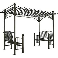 Dc America Toscana Double Bench Arbor With Pergola Style Top Local Pu In Nj