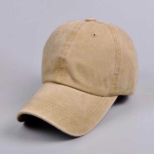 Men/'s Baseball Cap Vintage Plain Washed Style Cotton Adjustable Sport Blank Hat