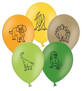 Happy-Dinosaurs-Collection-12-034-Assorted-Printed-Latex-Balloons-pack-of-6