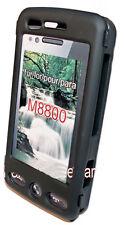 Crystal Case Cover Handy  Hülle in Schwarz für Samsung M8800 Pixon