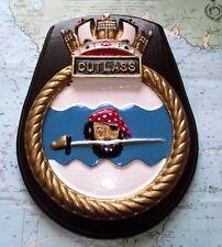 "10"" HMS Cutlass Heavy Metal Ship Crest Shield Plaque"