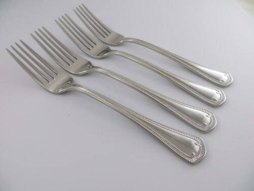 4 Dinner Forks SOMERSET Waterford 18//10 Glossy Stainless Steel Flatware