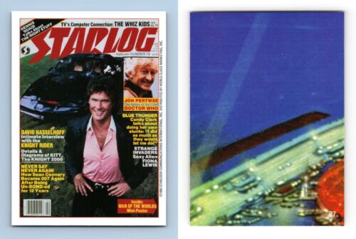 Knight Rider #37 Cover #79 Starlog 1993 WCM Trading Card