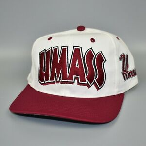 UMass-Minutemen-NCAA-Twins-Enterprise-Vintage-90-039-s-Snapback-Cap-Hat-NWT
