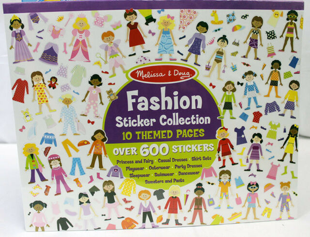 Fashion Sticker Collection 4190 Melissa /& Doug Sticker Book Collection