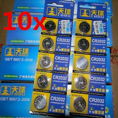 10pcs CR2032 DL2032 LM2032 3V Button Cell Coin Battery for Watch Toys Remote new