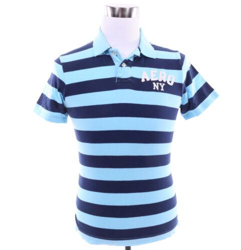 Aeropostale Men Stripe Jersey Logo AERO Polo Shirt style 7904 $0Ship