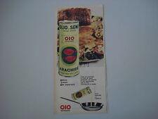advertising Pubblicità 1962 OLIO DI ARACHIDE OIO