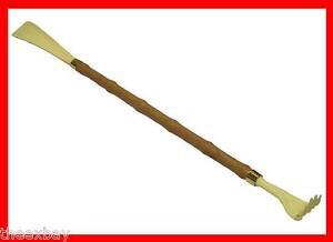 Wooden Long Handled Shoe Horn with Back Scratcher 22 inch 58 cm Long Shoehorn