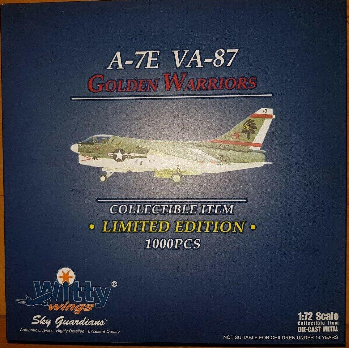 Witty Wings a-7a CORSAIR II USN va-87 oroEN Warriors, ae410 1 72 metallo RAR