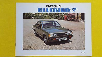 Dinamico Datsun Bluebird Saloon Estate 1.8 Brochure Catalogo Di Vendita Luglio 1982 Nuovo Di Zecca Nissan-mostra Il Titolo Originale Prezzo Di Vendita Diretto In Fabbrica