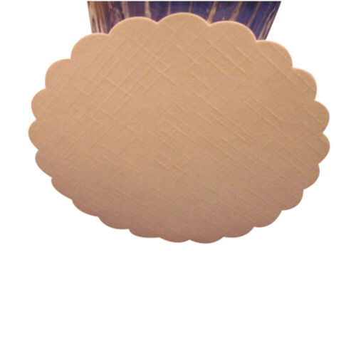 "50 Plain white hard stock paper coasters 4/"" diameter"