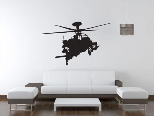 Apache Gunship Military War Helicopter Vinyl Home Wall Decal Sticker VE22