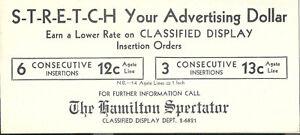 Vintage-Hamilton-Spectator-Ink-Blotter-Newspaper-Ontario-Canada