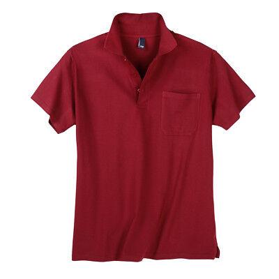 Daves Kurzarm Poloshirt rot Übergrößen 2XL 3XL 4XL 5XL 6XL 7XL 8XL 10XL 12XL