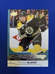 2017-18-Upper-Deck-CHARLIE-MCAVOY-Young-Guns-Rookie-RC-242-Boston-Bruins