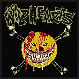 The-Wildhearts-Smiley-Face-Tisse-Patch-a-Coudre-Officiel-Licence-Bande-March