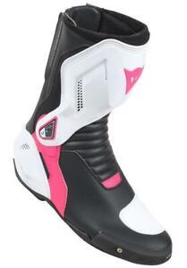 Motorrad-Sport-Stiefel-Nexus-Lady-Dainese-Damen-Gr-40-schwarz-weiss-fuchsia-NEU