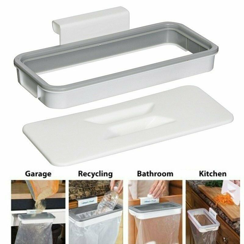 Foldable Practical Garbage Bag Storage  Plastic Hanging Holder Breathable Mesh