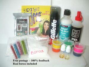 borax slime making kit uk cloud fluffy butter slime. Black Bedroom Furniture Sets. Home Design Ideas