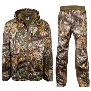 Habit Men's Real Tree Edge Windproof & Waterproof Hunting Jacket & Trousers Set