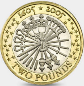 Guy Fawkes Remember Two Pound Coin Hunt