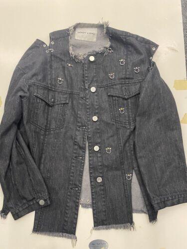 Sandy Liang Jacket Pierced Denim 36 Small