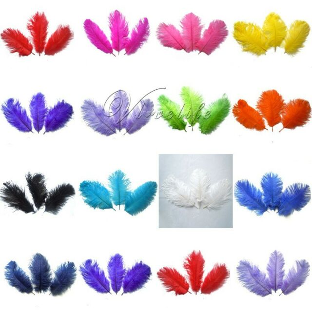 "100PCS Natural Ostrich Feathers approx 15-20cm/6-8"" Wedding Party Xmas Decor"
