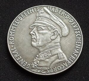 WW2-GERMAN-COIN-AFRIKA-KORPS-GENERAL-ERWIN-ROMMEL-TOBRUK-1941