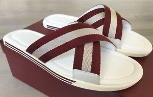 500Bally ons 5 Italy lederen rode 11 maat sandalen In Bonks en Made witte TlcF1KJ