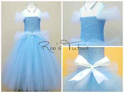 Handmade Disney Cinderella inspired tutu dress costume. Party, Princess dress up