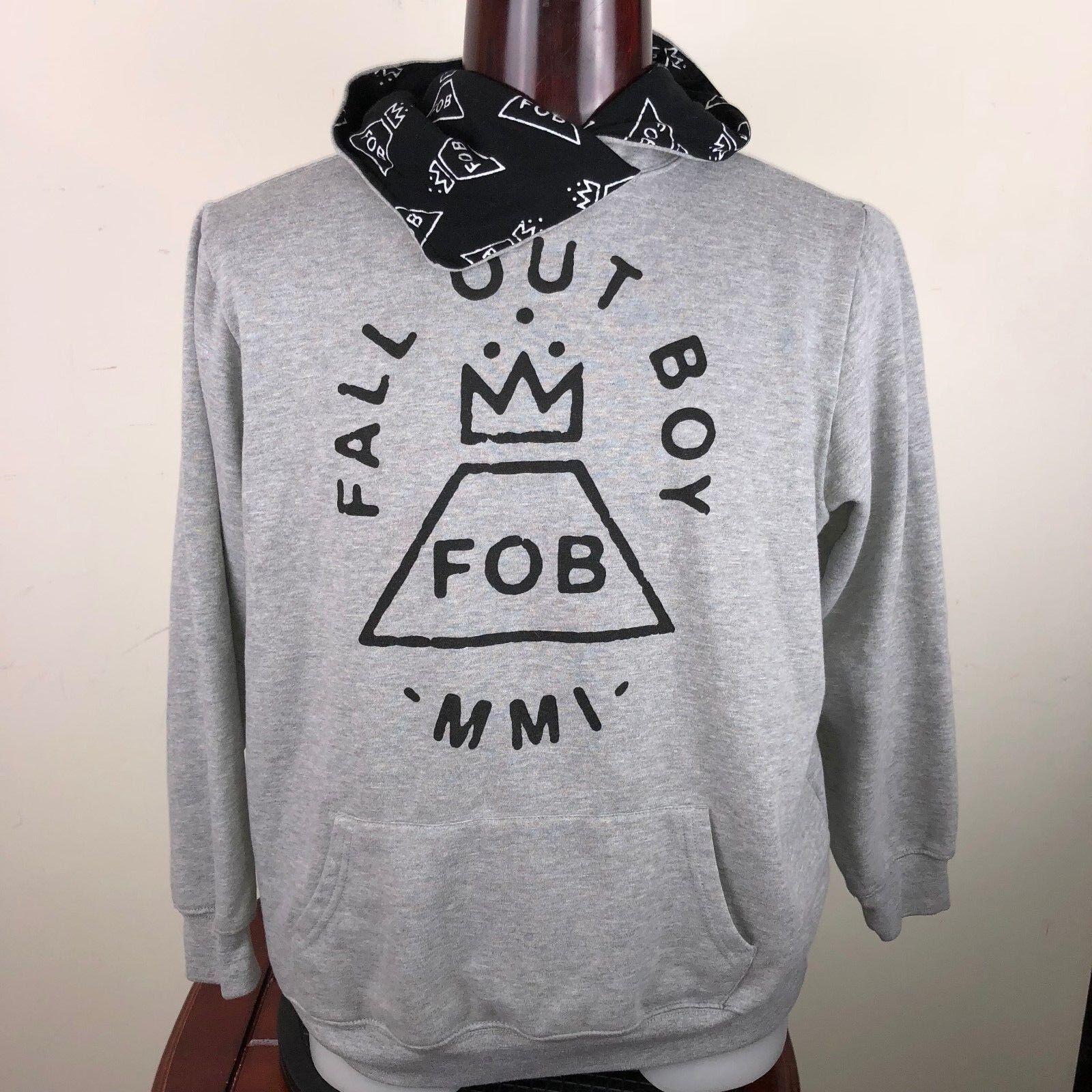 """Fall Out Boy Manhead Black Hooded Sweatshirt Chest 52"""""""
