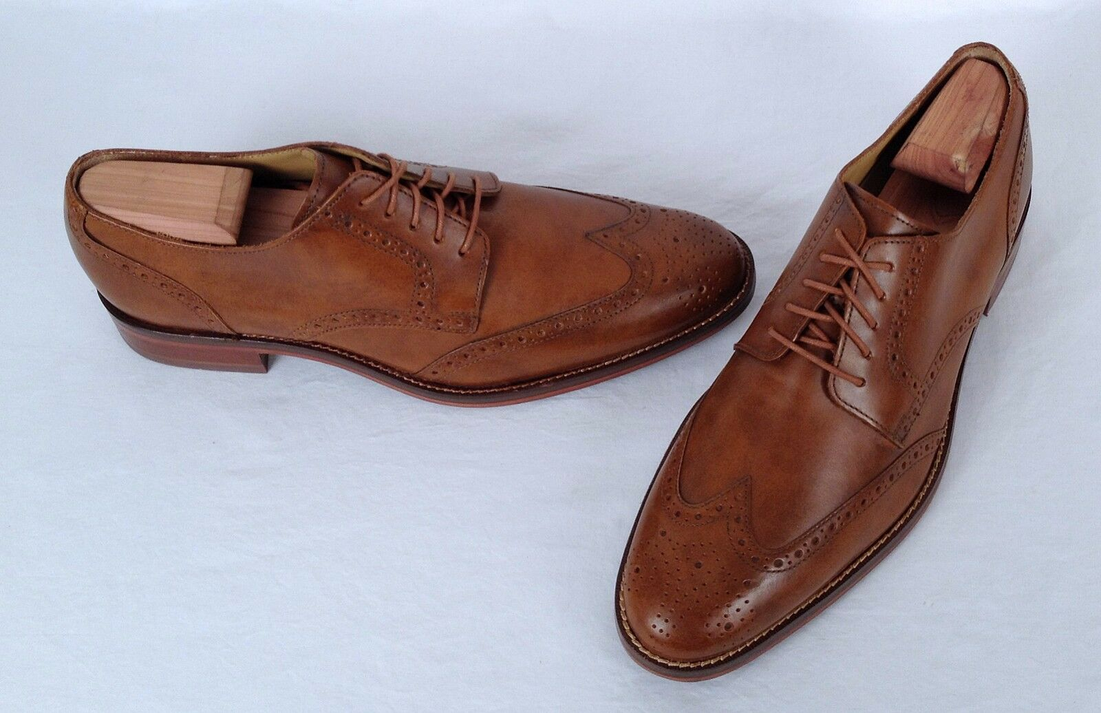NEW!! Cole Haan Wingtip Oxford British Tan Size 8 M   (Z1) Scarpe classiche da uomo