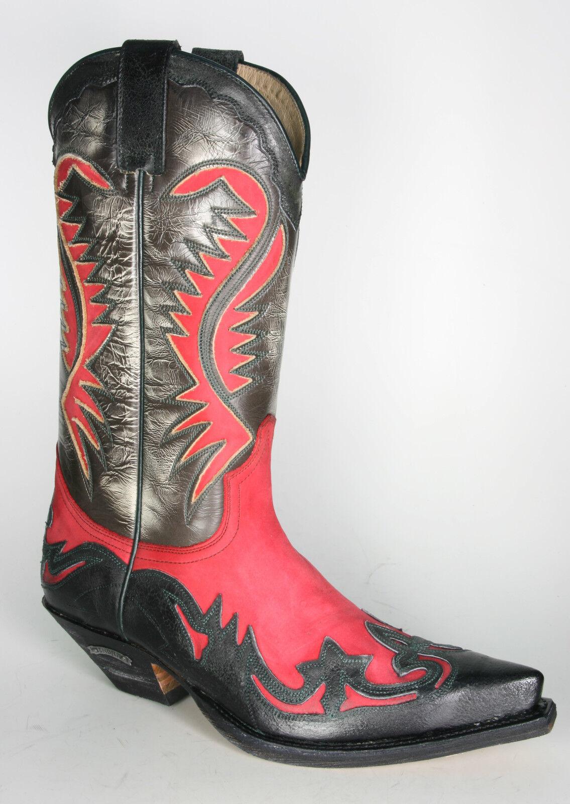 6480 Sendra Cowboystiefel Barbados Negro N. Rojo